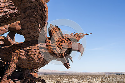 Eagle sculpture in Galleta Meadows