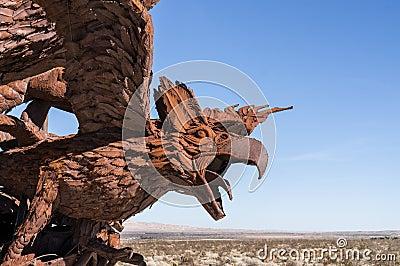 Eagle sculpture in Galleta Meadows