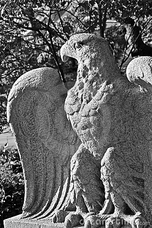 Eagle sculptured in stone