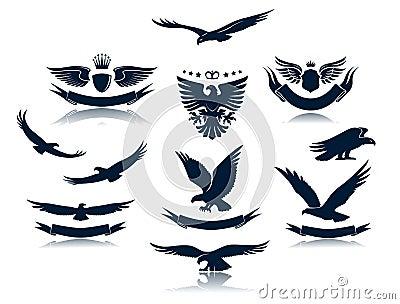 Eagle Silhouettes Set 3