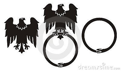 Eagle and snake ouroboros
