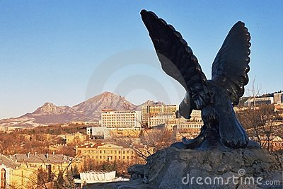 Eagle statue in Emblem Pleasure Resort in Pyatigor