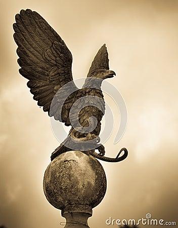 Eagle statue Gold