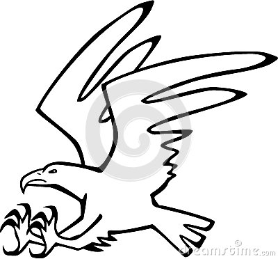 Stock Illustration Eagle Strike Stylized Line Drawing Flying Holding Out Claws To Attack Eps File Pending Image63527273 on Eagle Talon