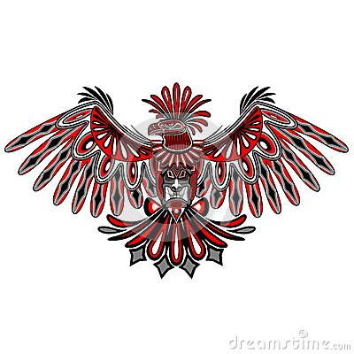 Free Eagle Tattoo Style Haida Art Royalty Free Stock Photo - 62433885