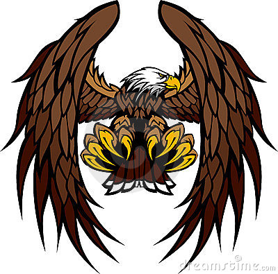 Eagle Wings and Claws Mascot Illustration