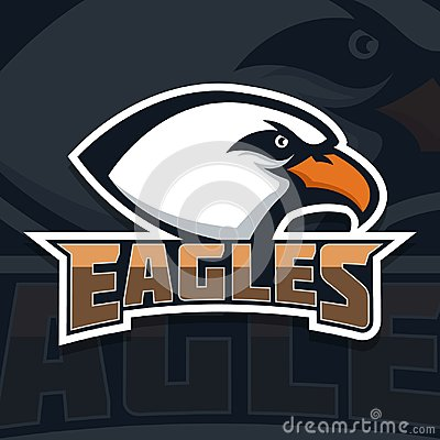 Free Eagles. Emblem Template With Eagle Head. Sport Team Mascot. Royalty Free Stock Images - 109129159