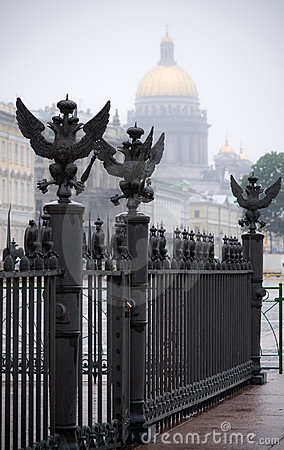 Eagles on the Palace Square in Saint-Petersburg