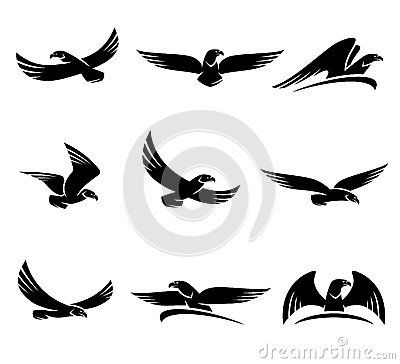 Free Eagles Set. Vector Royalty Free Stock Image - 45022106