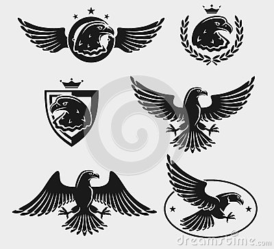 Free Eagles Set. Vector Stock Image - 45022211