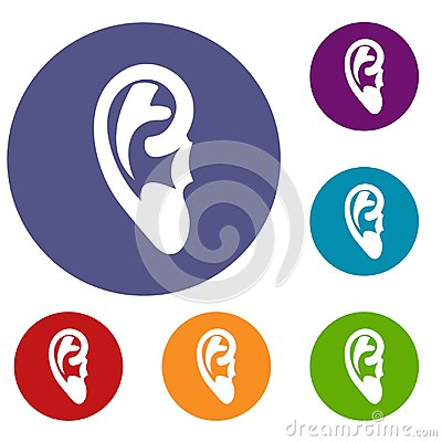 Free Ear Icons Set Royalty Free Stock Images - 95957449