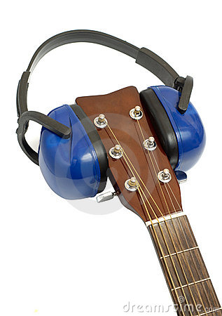 Ear protection on guitar