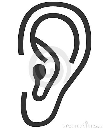 Human ears clipart black and white - photo#22