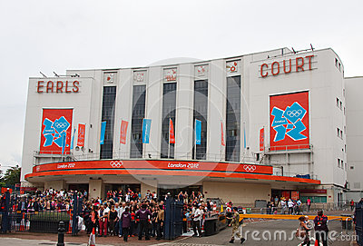 Earls Court London Redaktionell Fotografering för Bildbyråer