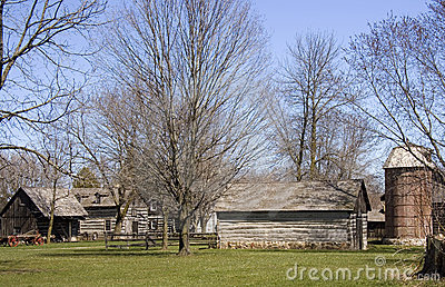 Early American Pioneer Homestead