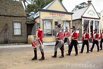 Early Australian army Editorial Stock Image