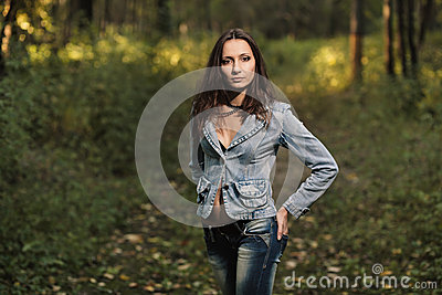 Early autumn portrait of girl