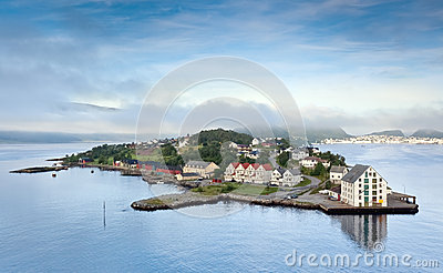 Early morning landscape, Alesund - Norway - Scandinavia