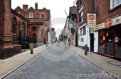Early morning in Chester, UK Editorial Stock Photo