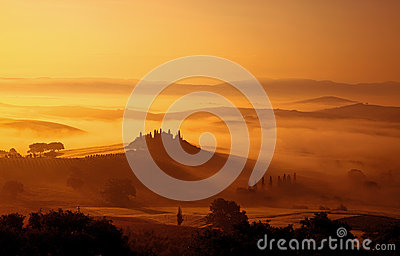 Early Morning Fog in the Tuscany