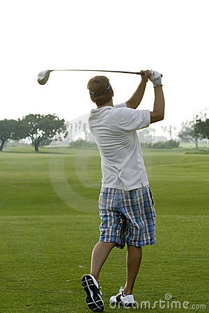 Early Morning Golfer
