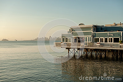 Early morning in Sausalito Editorial Stock Photo