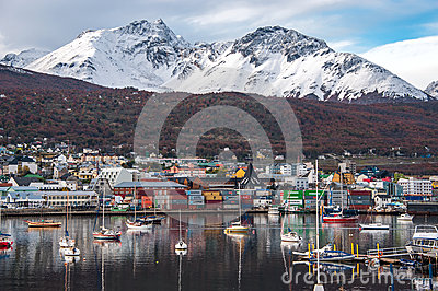 Early morning in Ushuaia, Patagonia, Argentina Editorial Stock Image