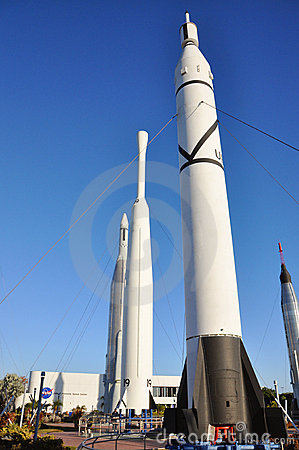 Early Rocket in Kennedy Space Center Editorial Photo