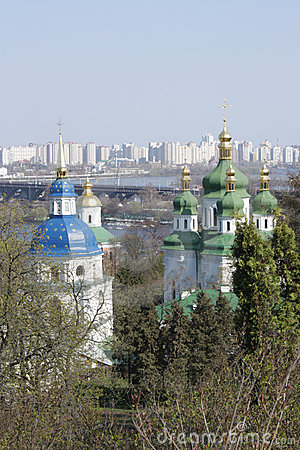 Early spring on the holy places of Kiev