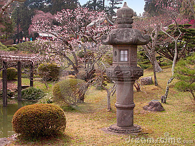 Early spring Japanese garden