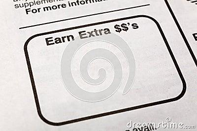 Earn extra dollars