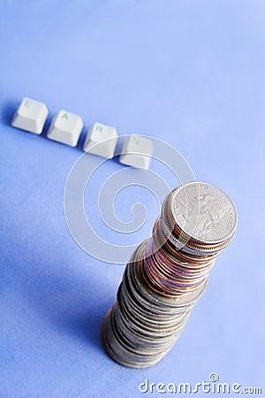 Earn money concept