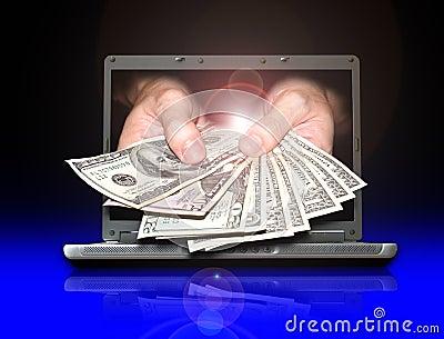 Internet Money Royalty Free Stock Image - Image: 4492566
