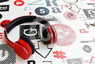 earphone stock photo image 61251898. Black Bedroom Furniture Sets. Home Design Ideas