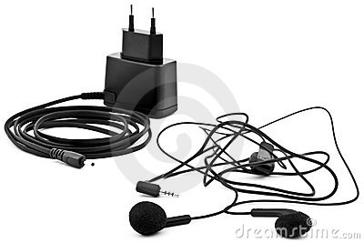 Earphones and charger
