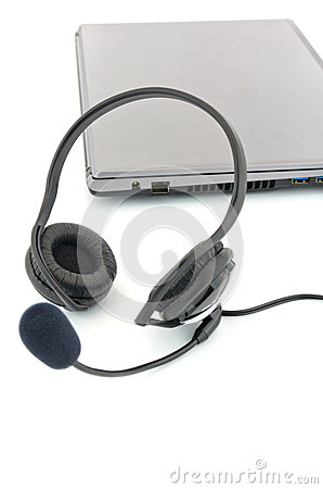 Earpiecess With A Microphone Stock Photos - Image: 25948443