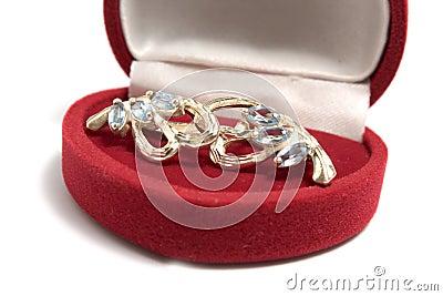 Earrings in jewelry box