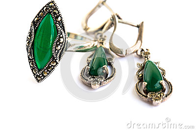 Earrings and ring