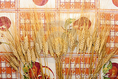 Ears of Wheat on Tablecloth