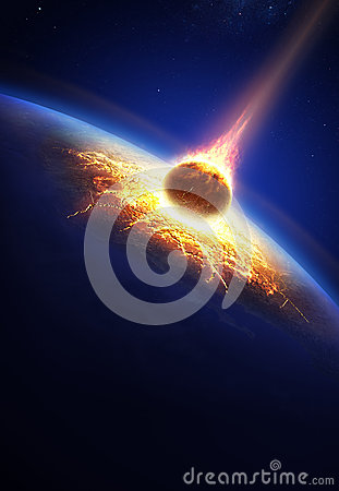 Free Earth And Asteroid Colliding Stock Photo - 29871460