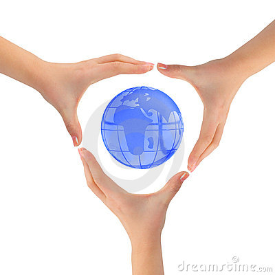 Free Earth And Hands Royalty Free Stock Photo - 7696985