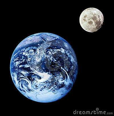 Free Earth And Moon Royalty Free Stock Photo - 3172415