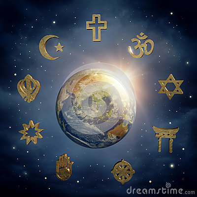 Free Earth And Religious Symbols Royalty Free Stock Photo - 40201595