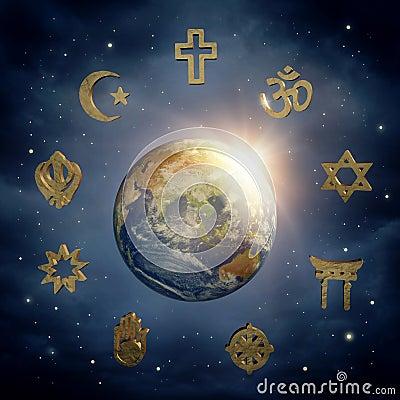Free Earth And Religious Symbols Royalty Free Stock Photo - 40201595