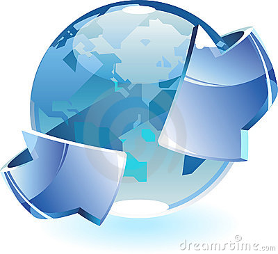 Earth With Arrows Royalty Free Stock Image - Image: 10902706