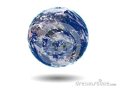 Earth Asia Australia