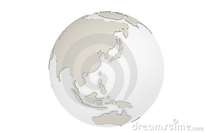 The Earth Asia Map
