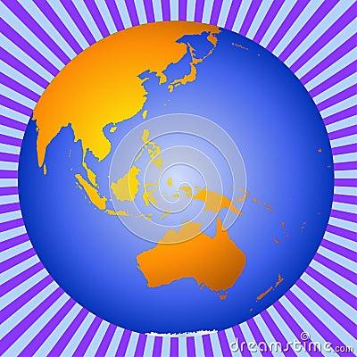 Earth Australia-New Zealand-Asia