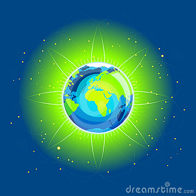 Earth Beam Europe Africa Continents