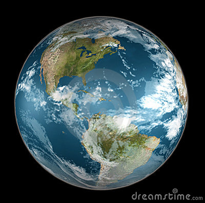 Earth on black